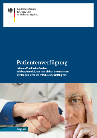 Titel der Broschüre Patientenverfügung