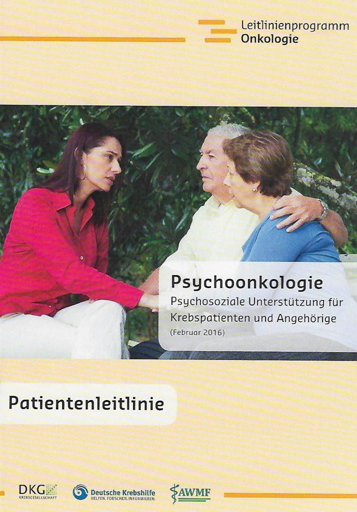 Titel der Broschüre Psychoonkologie
